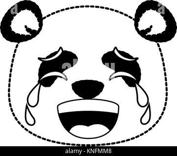 Niedliche Tier schreien Emoji kawaii Vector Illustration Design - Stockfoto