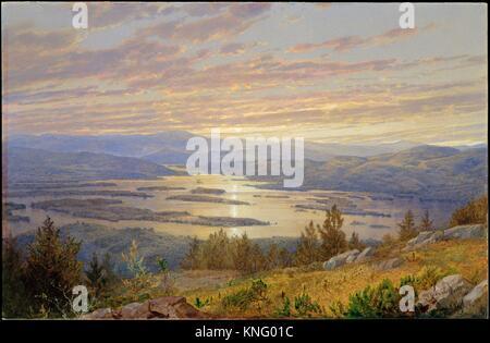 Squam Lake von Red Hill. Artist: Ochtervelt (Amerikanische, Philadelphia, Pennsylvania 1833-1905 Newport, Rhode - Stockfoto