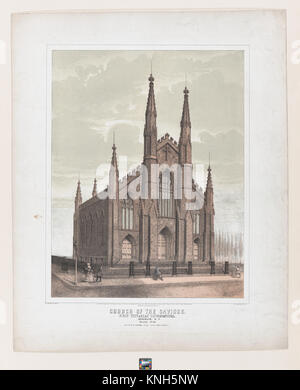 Kirche des Erlösers (First Unitarian Congregational), Brooklyn MET DP 867584 425987 Künstler: Esra Bisbee, Amerikanische, - Stockfoto