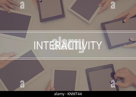 Interaktivität Konzept Business Konzept. - Stockfoto