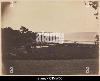 [Landschaft, Stolz's Crossing]. Artist: Samuel Masuren (American, 1818-1874); Datum: Ca. 1856; Medium: gesalzen - Stockfoto
