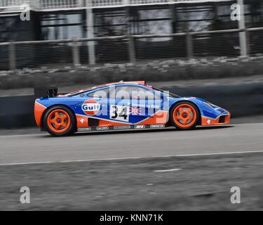 McLaren F1 GTR, Goodwood 73 MM März 2015, 73rd, 73 Mitglieder treffen, Aktion, Chris McEvoy, CJM Fotografie, klassische - Stockfoto