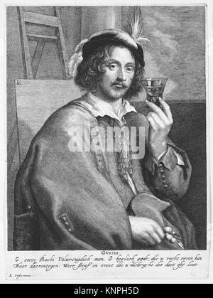 Allegorie der Geschmack (Porträt des Malers Jan Davidsz. de Heem, nach einem Selbstporträt). Artist: Lucas Grimm - Stockfoto