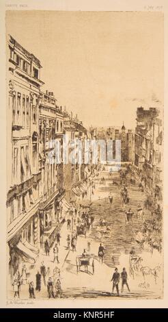 St. James Street. Artist: Nachdem James McNeill Whistler (Amerikanische, Lowell, Massachusetts 1834-1903, London); Datum: 1878; Medium: Lithographie