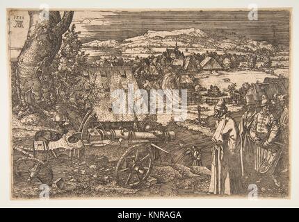 Landschaft mit einer Kanone. Künstler: Albrecht Dürer (Deutsch, Nürnberg 1471-1528 Nürnberg); Datum: 1518; Medium: - Stockfoto