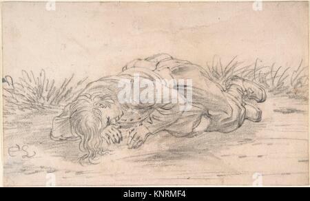 Ein Junge Schlafen im Freien. Künstler: Cornelis Saftleven (Niederländisch, Gorinchem 1607-1681 Rotterdam); Datum: - Stockfoto