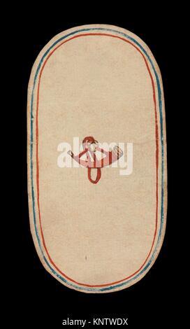 1 der Hörner, aus den Kreuzgängen Karten spielen. Datum: Ca. 1475-80; Geographie: im burgundischen Gebiete; Kultur: - Stockfoto