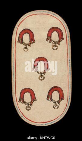 5 Der Kragen, aus den Kreuzgängen Karten spielen. Datum: Ca. 1475-80; Geographie: im burgundischen Gebiete; Kultur: - Stockfoto