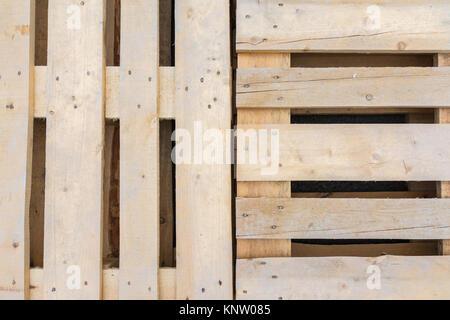 Holz Textur Palette Kiste Rohen ungeschliffenen Transport - Stockfoto