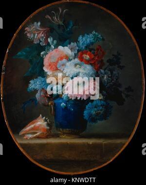 Vase mit Blumen und Muschel. Artist: Anne Vallayer-Coster (Französisch, Paris 1744-1818 Paris); Datum: 1780; Medium: - Stockfoto