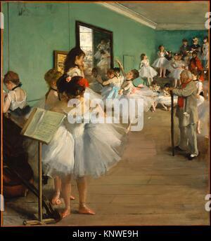 Der Tanz Klasse. Künstler: Edgar Degas (Französisch, Paris 1834-1917 Paris); Datum: 1874; Medium: Öl auf Leinwand; - Stockfoto