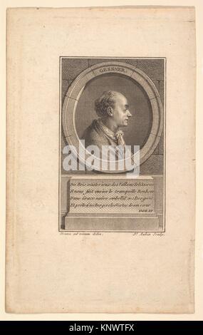 Portrait von Gessner. Artist: Augustin de Saint-Aubin (Französisch, Paris 1736-1807 Paris); Künstler: Nach baron - Stockfoto