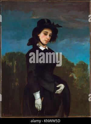 Frau in einer Reitschule Gewohnheit (L'Amazone). Künstler: Gustave Courbet (Französisch, Ornans 1819-1877 La Tour - Stockfoto