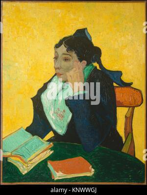 L'Arlésienne: Madame Ginoux Joseph-Michel (Marie Julien, 1848-1911). Künstler: Vincent Van Gogh (Niederländisch, - Stockfoto
