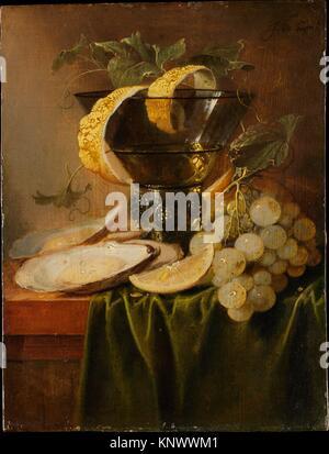 Noch immer leben mit einem Glas und Austern. Artist: Jan Davidsz de Heem (Niederländisch, Utrecht 1606-1683/84 Antwerpen); - Stockfoto