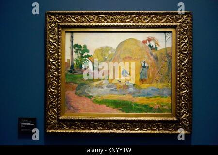 Les Meules jaunes dit aussi La Moisson blond. 1889. Paul Gauguin. Museum Orsay. Paris. Frankreich. Europa. - Stockfoto