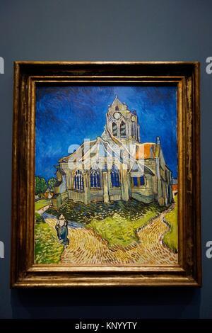 Die Kirche in Auvers-sur-Oise, Blick von der Apsis, 1890. Vincent Van Gogh. Museum Orsay. Paris. Frankreich. Europa. - Stockfoto