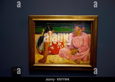 Femmes de Tahiti dit aussi Sur la Plage. 1891. Paul Gauguin. Museum Orsay. Paris. Frankreich. Europa. - Stockfoto