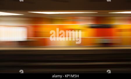 Motion Blur bunten Hintergrund von u-Plattform - Stockfoto