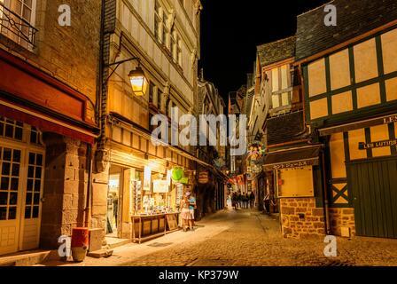 Le Mont-Saint-Michel, La Manche, Normandie, Frankreich, Europa. - Stockfoto