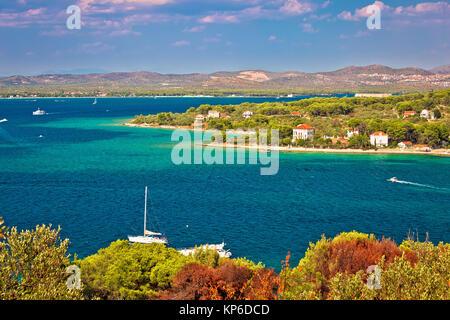 Insel Zlarin und der Archipel von Sibenik, Dalmatien Region von Kroatien - Stockfoto