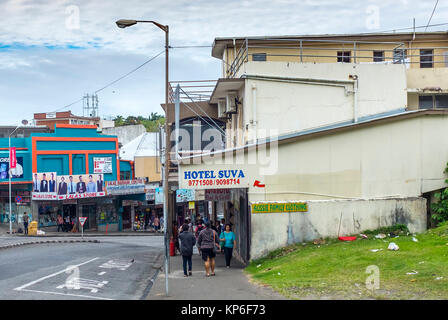 victoria parade suva hauptstadt von fidschi south pacific stockfoto bild 168559433 alamy. Black Bedroom Furniture Sets. Home Design Ideas