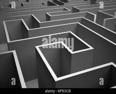 Endlose Labyrinth - Stockfoto