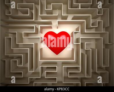 Feuerstelle im Labyrinth - Stockfoto