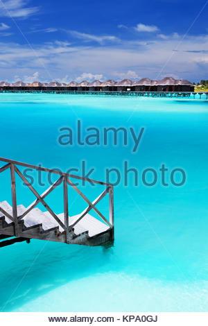 Schritte in erstaunliche Blue Lagoon - Stockfoto