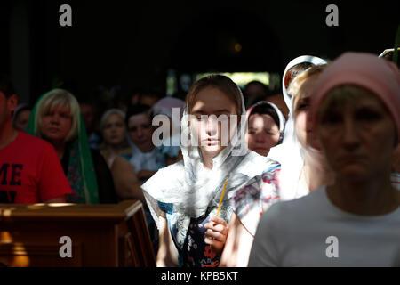 """Belarus, Gomel Stadt, St. Nikolaus Kloster, einer religiösen Orthodoxen Ferienwohnung """"Palm Sonntag 19.06.2016 Jahr. - Stockfoto"""