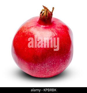 Granatapfel isoliert auf Weiss. Freistellungspfad - Stockfoto