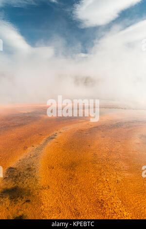 Bakterielle Matte zum Grand Prismatic heißen Quellen im Yellowstone Nationalpark, Wyoming - Stockfoto