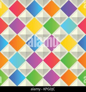 Abstrakte geometrische Hintergrund. Bunte nahtlose Textur. - Stockfoto