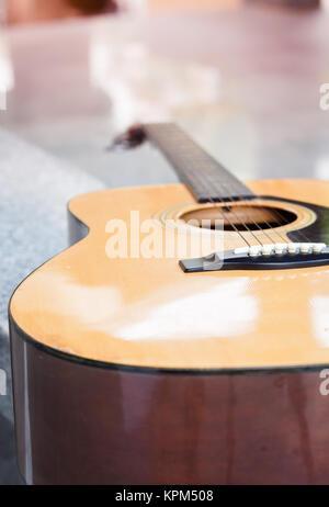 Close up akustische Gitarre detail - Stockfoto