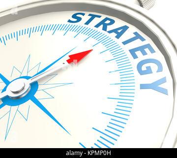 Kompass mit Strategie word - Stockfoto