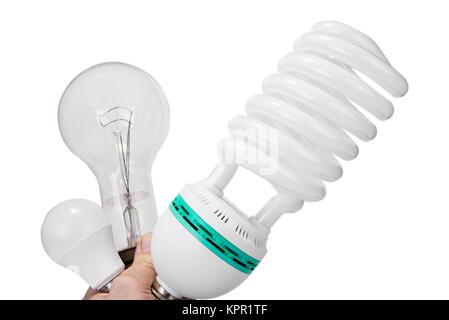 Klassische Glühlampe versus Kompaktleuchtstofflampen neue im ...