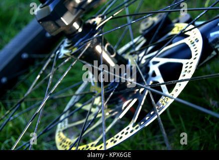 Fahrrad Rad Closeup - Stockfoto