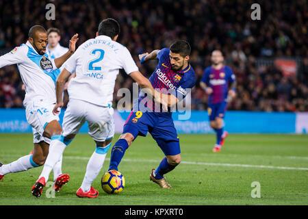 Barcelona, Spanien. 17 Dez, 2017. Spanien - 17.Dezember: Barcelona, Luis Suarez (9) während des Spiels zwischen - Stockfoto