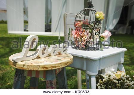 Holz Weisse Hand Willkommen Hochzeit Dekoration Stockfoto Bild