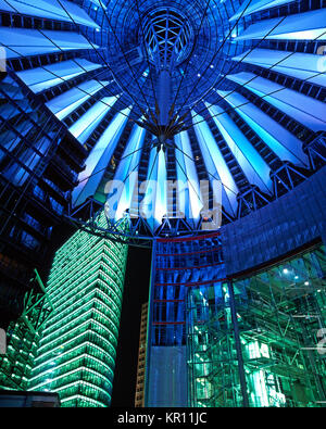 Sony Center, Potsdamer Platz, Berlin, Deutschland - Stockfoto