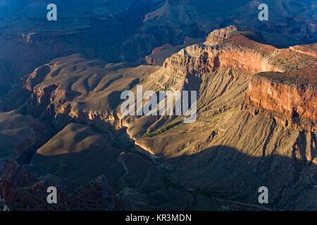 Fantastischer Blick in den Grand Canyon von mathers Point, South Rim - Stockfoto
