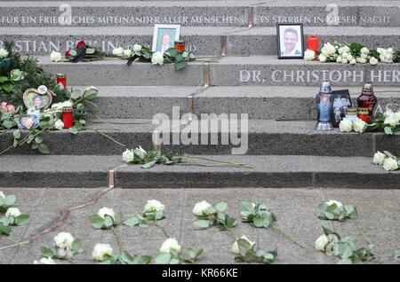 Berlin. 19 Dez, 2017. Foto auf Dez. 19, 2017 zeigt eine Ansicht von Memorial knacken die 1. Jahrestag des Angriffs - Stockfoto