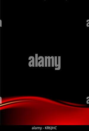 Roten Bühnenvorhang auf schwarzem Hintergrund - Stockfoto