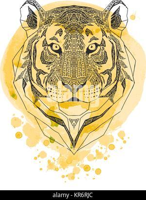 Tiger Drucken Hintergrund Stockfoto Bild 49769164 Alamy