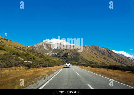 Mount Cook Highway, South Island, Neuseeland - Stockfoto