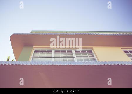 Details zu typischen Art Deco Architektur in South Beach Miami, Florida - Stockfoto