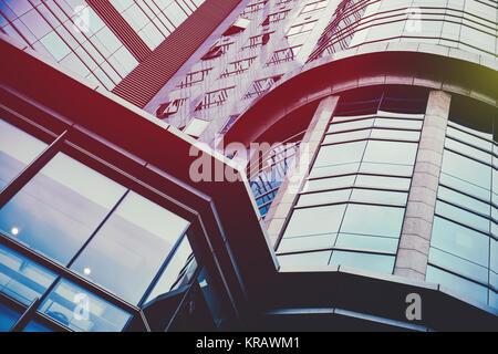 Geschäftskonzept - Glas Gebäude im Detail - Stockfoto