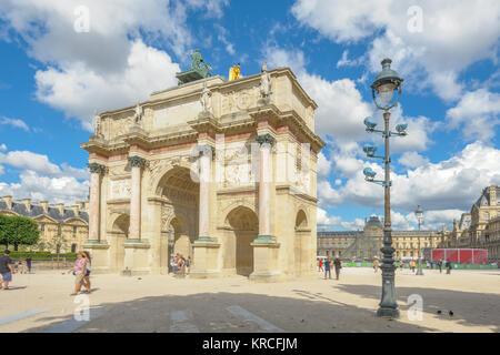 Arc de Triomphe du Carrousel in Paris - Stockfoto