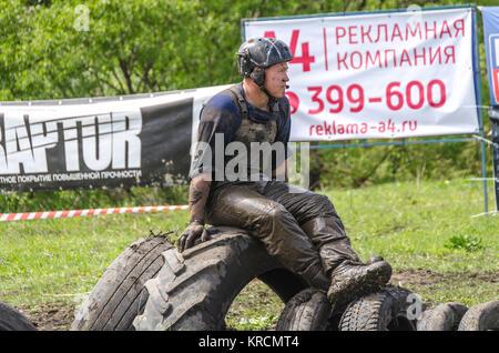 """SALOVKA, Russland - Mai 5, 2017: Jährliche Geländerennen auf off-road Fahrzeuge bei den jährlichen Wettbewerb """"rubezh - Stockfoto"""