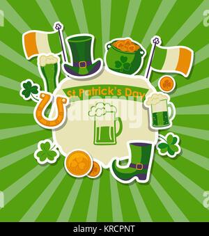 St Patrick's day Grußkarte. - Stockfoto